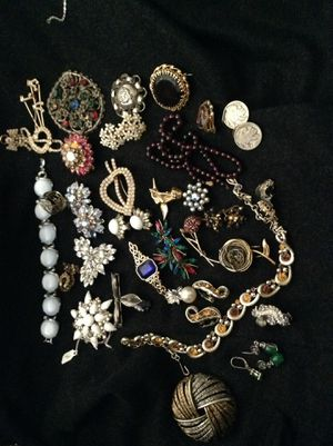 Over $700 vintage jewelry: signed Trifari Coro Weiss Juliana ART and more (3 additional boxes) for Sale in Los Angeles, CA