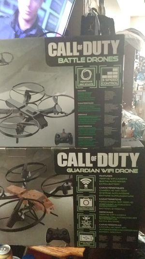 Call Of Duty battle Drones ..!! The set of two play lazer tag together and the big one is equipped with a camera...! Fun to fly for Sale in Salt Lake City, UT