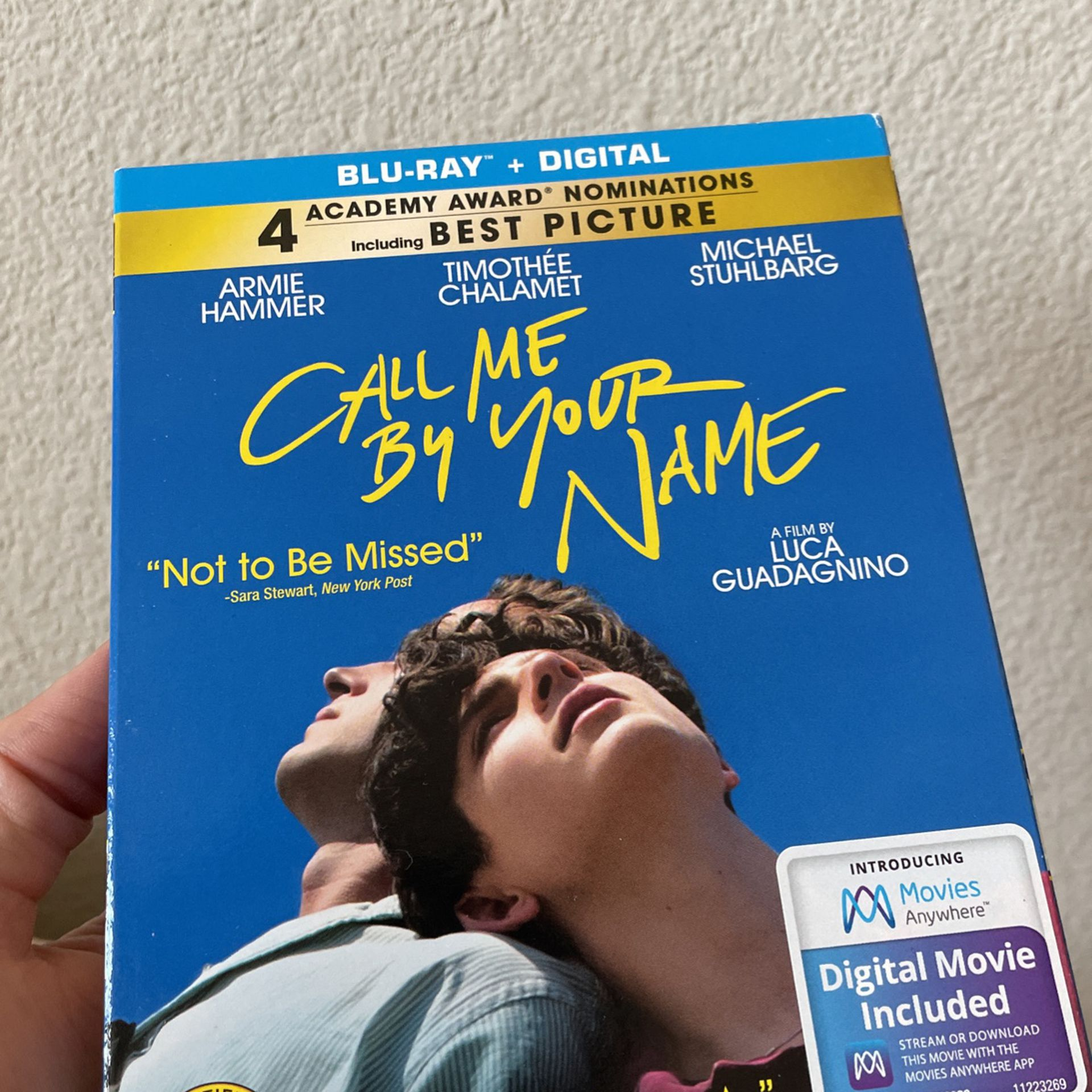 Call Me By Your Name (2017) Blu Ray