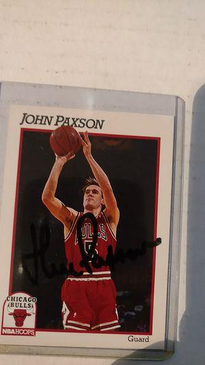 John Paxson Autograph card for Sale in Jacksonville, FL