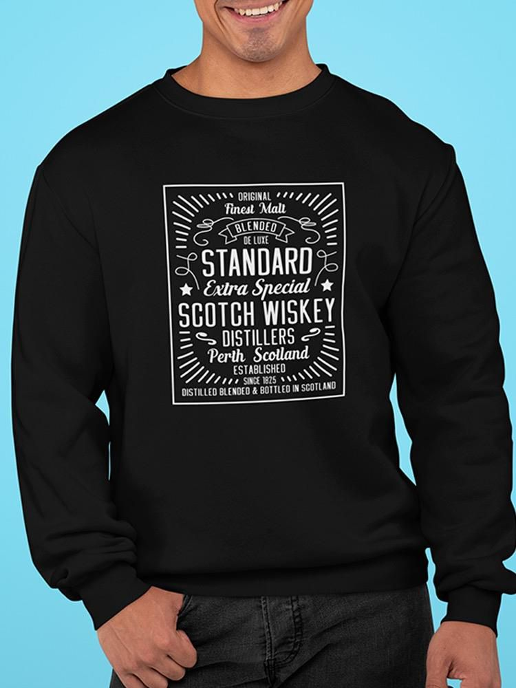 Smartprints Whiskey Vintage Frame  Sweatshirt Men's -Image by Shutterstock Ash Size L