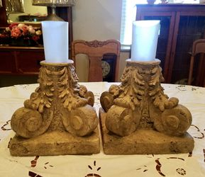 Resin Candle Holders w/ Chimneys Thumbnail