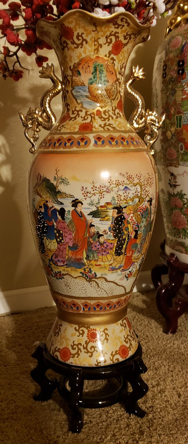 Asian Japanese floor vase for Sale in Castro Valley, CA - OfferUp on japanese floor screens, japanese vintage, japanese home, japanese floor pillows, japanese floor lanterns, japanese floor tables, japanese art, japanese floor pottery, japanese floor mats, japanese classic, japanese earthenware, japanese pitchers, japanese floor storage, japanese floor desks, japanese antiques, japanese mirrors, japanese floor chairs, japanese pillar, japanese floor beds, japanese moriage vase,