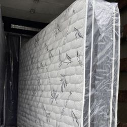 New Bamboo Double Pillow Top Mattress And Box Spring. Any Size: Twin, Full, Queen, King. Please Message Me For Prices, We Can Deliver Thumbnail