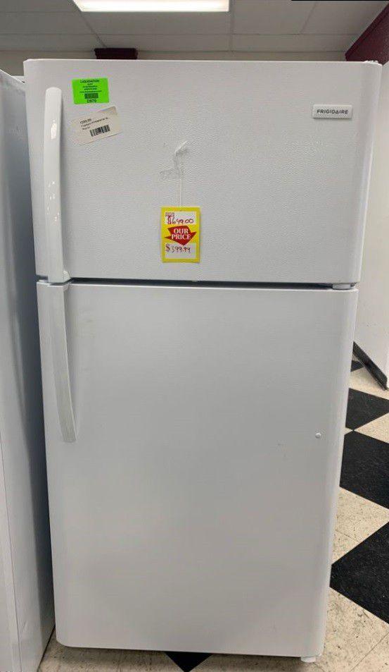 Frigidaire top freezer fridge!! Refrigerator is brand new with warranty