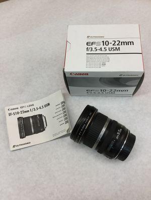 Canon 10-22mm EFS Lens for Sale in Scottsdale, AZ