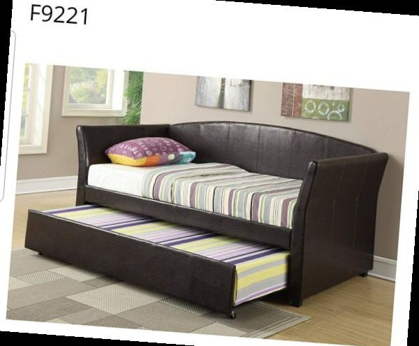 CLOSEOUTS LIQUIDATION SALE BRAND NEW TWIN SIZE DAY BED FRAME WITH TRUNDLE ADD MATTRESS ALL NEW FURNITURE PDX9221 MFUWU