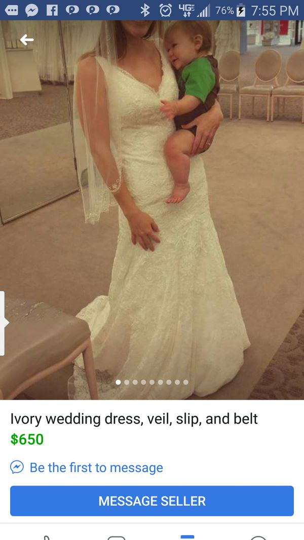New Davids bridal wedding dress info posted n pic selling for ...