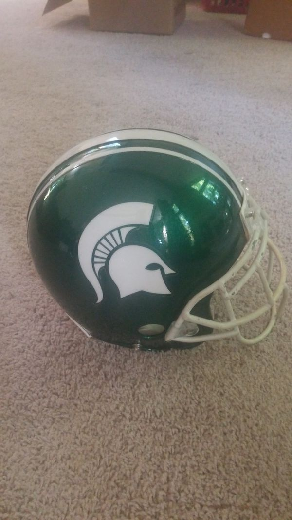 8fe181b69a7 Michigan State Game Used Football helmet and replica for Sale in ...