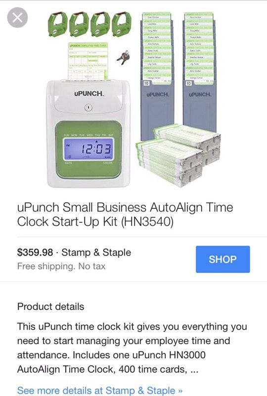 upunch time clock hn3000 for sale in asheboro nc offerup - Upunch Time Cards