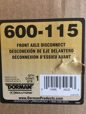 Dorman 4 wheel drive front axle disconnect for Sale in Chicago, IL