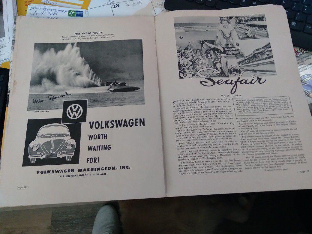 1957 Official Gold Cup Regatta Magazine