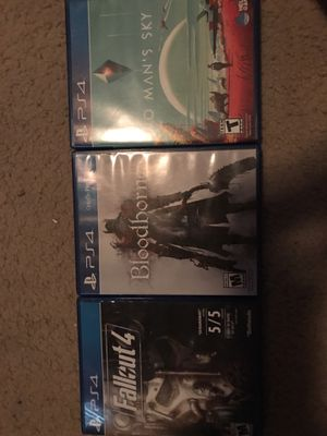 Selling BloodBorne, Fallout 4, and No Man's Sky for Sale in Austin, TX
