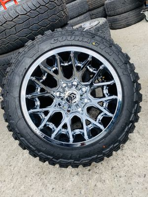 Photo 20x12 deep concave rims and mud tires 33125020 8x165.1 Chevy gmc dodge