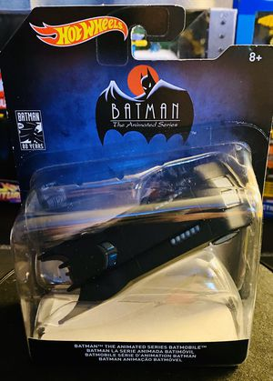 Photo Hot Wheels Batman 80 years; the animated series Batmobile real riders, metal 1/48 scale new mint