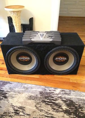 2 Kicker Subs and Kicker Amp Package for Sale in Washington, DC