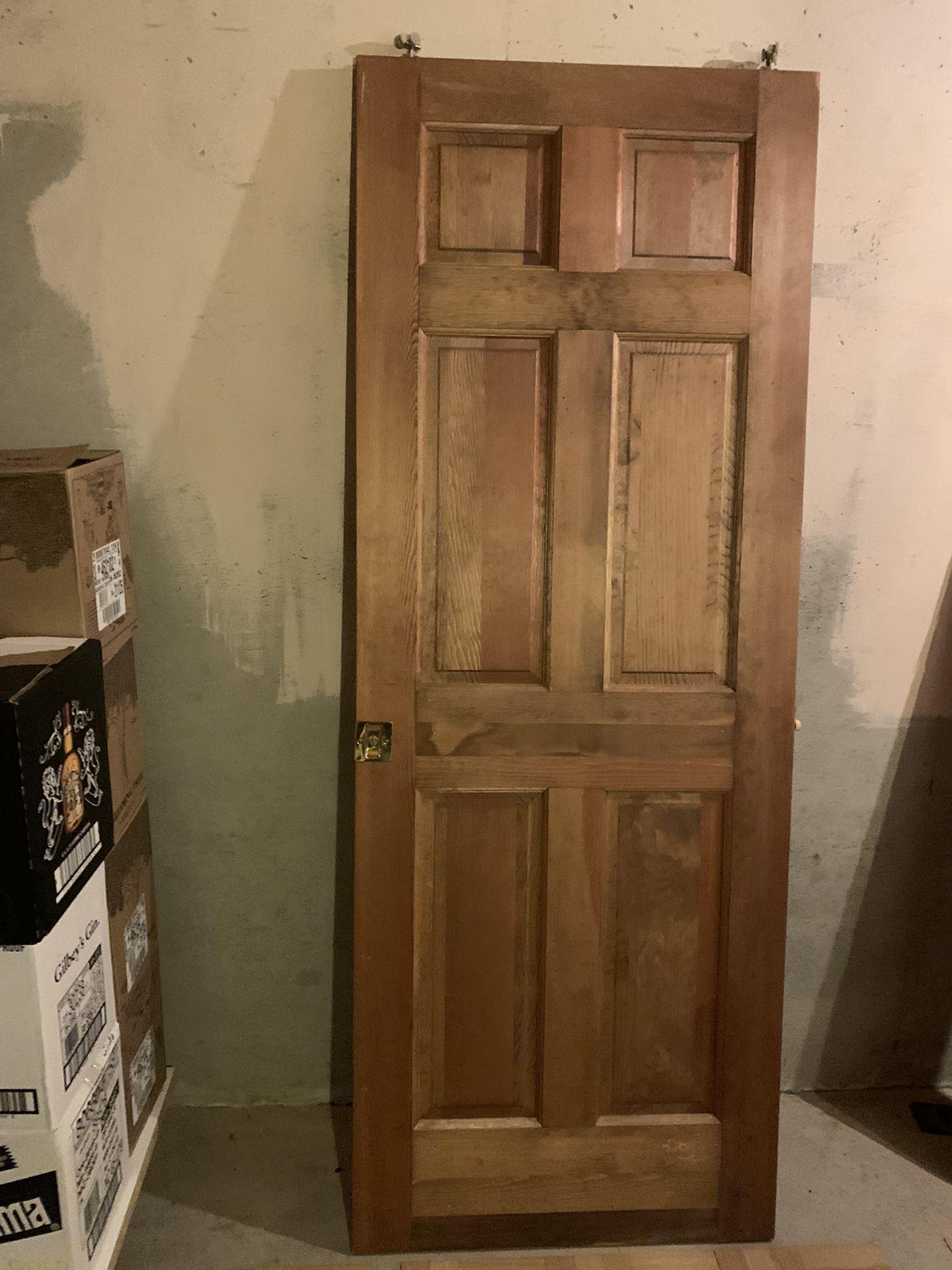 Interior solid oak wood door