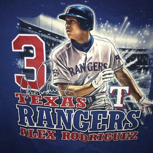 official photos 6dcd0 5e206 Vintage 2001 TEXAS RANGERS ALEX RODRIGUEZ T-shirt MEDIUM for Sale in  Dallas, TX - OfferUp