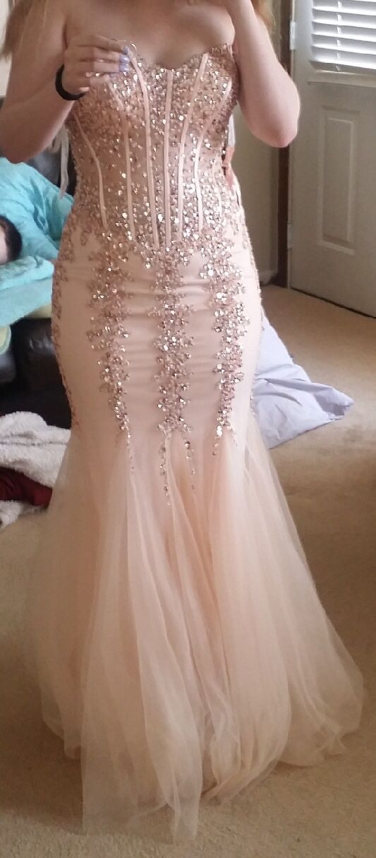 5df9ce5d1c Jovani Champagne Blush Prom Dress  5908 for Sale in Geneva