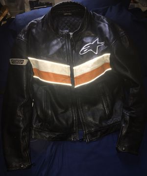 Large Vintage Mens alpinestars racing ahead leather motorcycle jacket for Sale in NO BRENTWOOD, MD