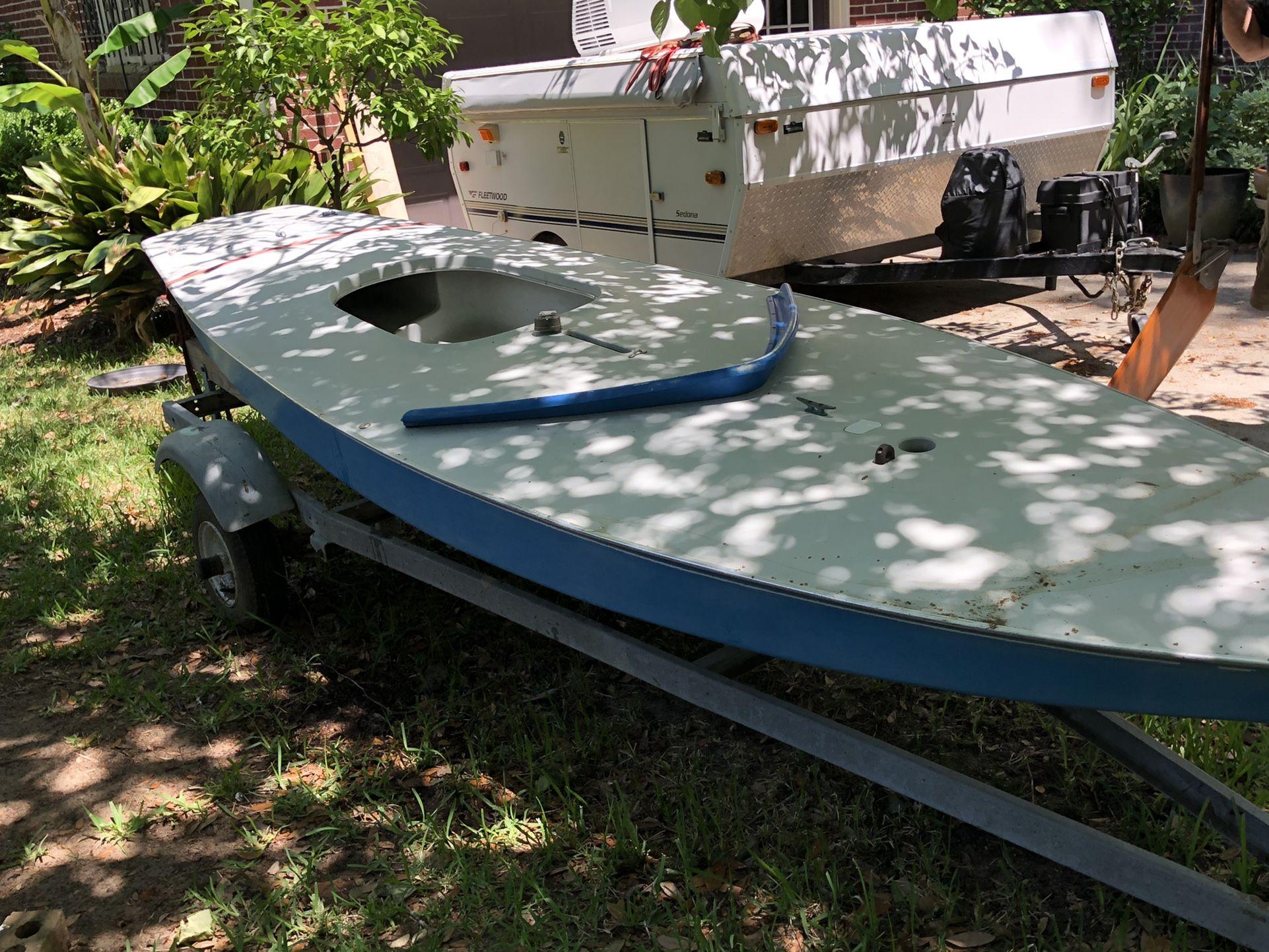 Photo Sunfish sailboat Trailer