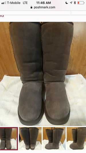 Size 8 Gray tall Ugg boots for Sale in Reston, VA