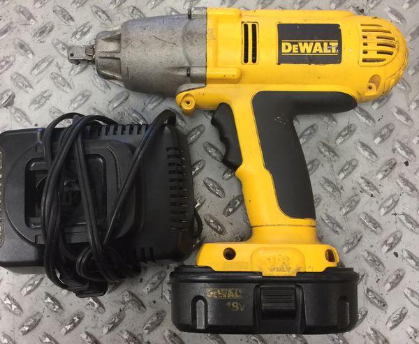 Dewalt Dw059 18v Cordless Impact Wrench Heavy Duty 1 2