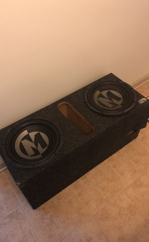 "Two 10"" Memphis Car Audio Speakers W/ Box for Sale in Odenton, MD"
