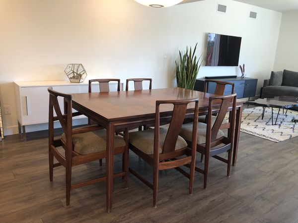 Mid century dining table : 6 chairs for Sale in San Diego, CA - OfferUp