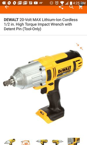 Drill de impacto para mecánico 1/2 pulgada....impact wrench 1/2 inch...TOOL ONLY for Sale in Falls Church, VA