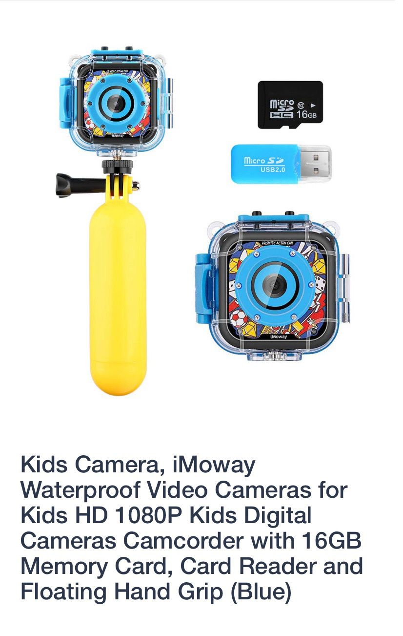 Underwater video camera With SD card