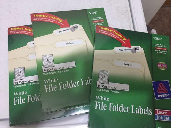 Avery file folder labels 5366 for Sale in Philadelphia, PA - OfferUp