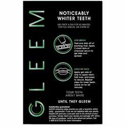 NWT Gleem Whitening Strips With Charcoal Serum Kit Thumbnail