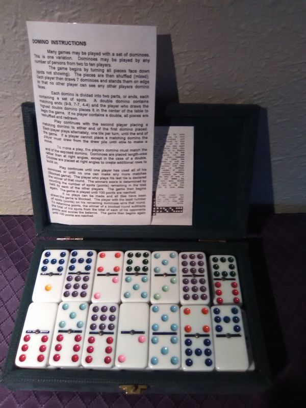 Vintage set of double-nine dominos and case for Sale in Seattle, WA -  OfferUp