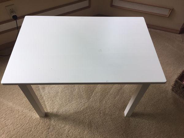 Ikea Kids Table White 29 X 19 X 19 For Sale In Redmond Wa