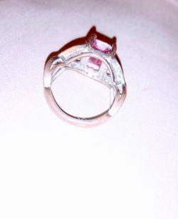 Pink Topaz Infinity Ring Thumbnail