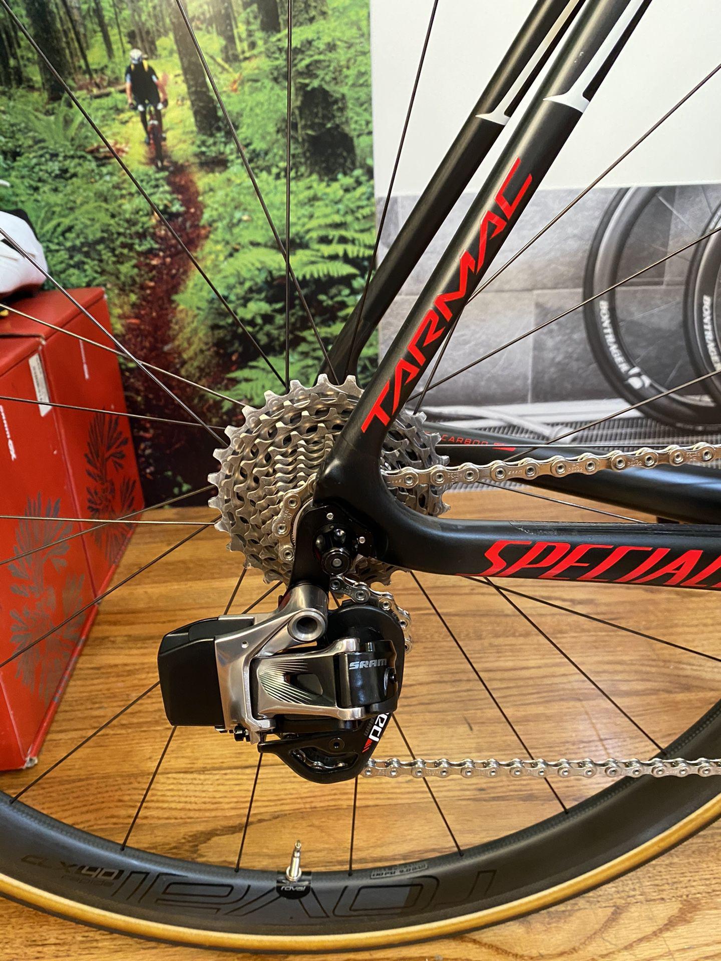2017 Specialized S-Works Tarmac, Sram eTap, Roval Rapide CLX 40 Carbon Wheels, 11-speed, 58cm, Like New!