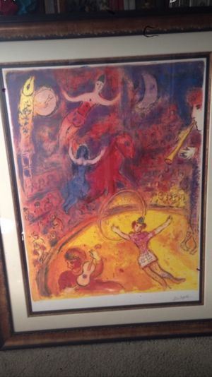 Art: Marc Chagall-Circus comes with COA for Sale in Chicago, IL