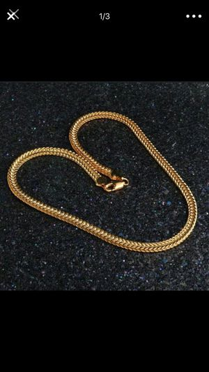 18k gold plated 18K stamped necklace chain for Sale in Silver Spring, MD