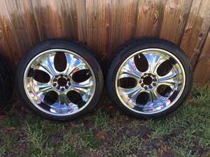 22 Inch Rims and Tires for Sale in Deltona, FL