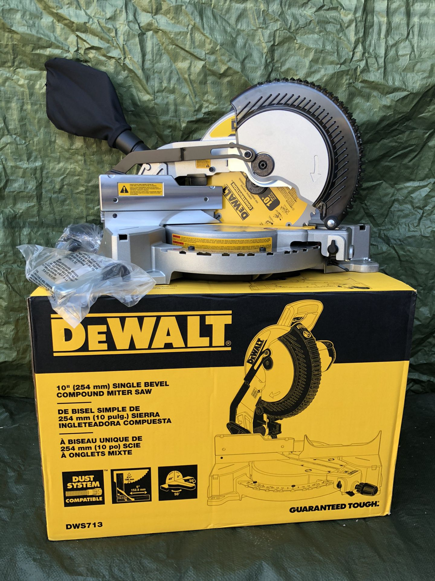 "Dewalt Singe 10"" Double Single Compound Miter Saw"