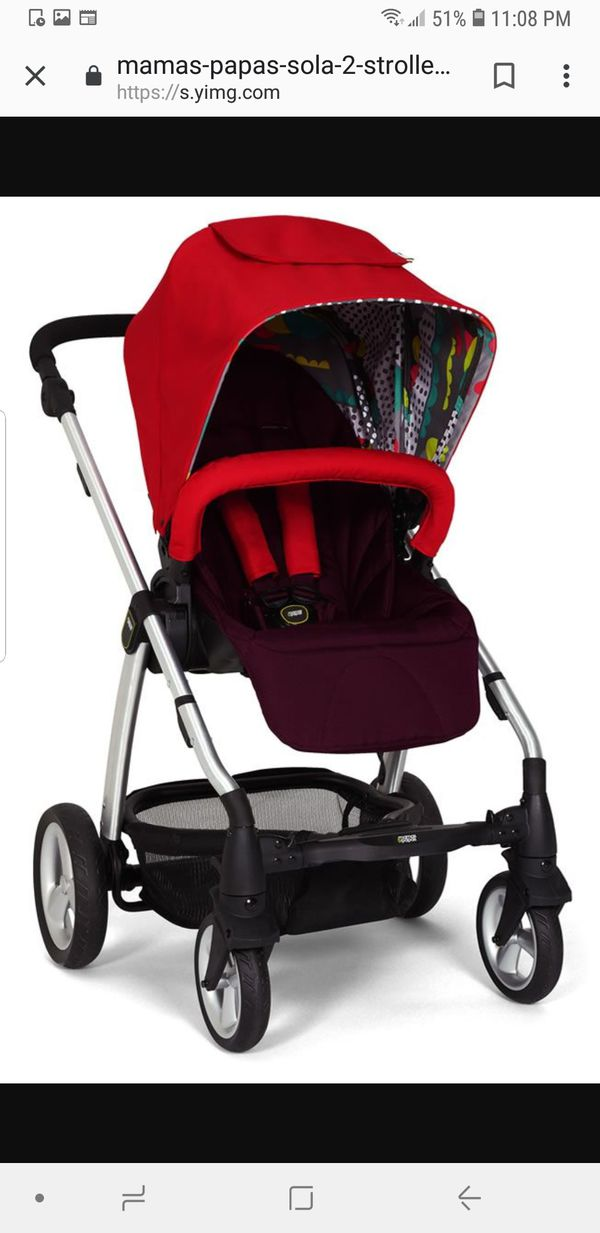 New Mama's and papas sola2 bright red with free new car seat adapter for  Sale in South Gate, CA - OfferUp