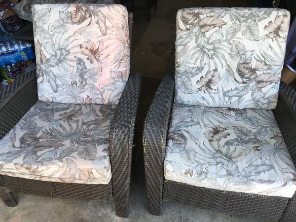 Patio Furniture 7 Piece Wicker Set For Sale In Sacramento