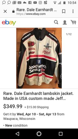 Chase Nascar jacket collectors. Dale Earnheart Thumbnail