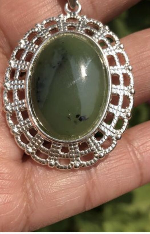 Nephrite jade pendant white gold plated for sale in suisun city ca nephrite jade pendant white gold plated for sale in suisun city ca offerup aloadofball Choice Image
