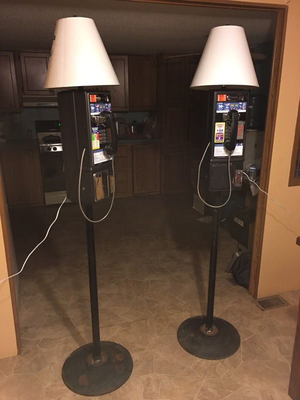 Pay phone tall lamps