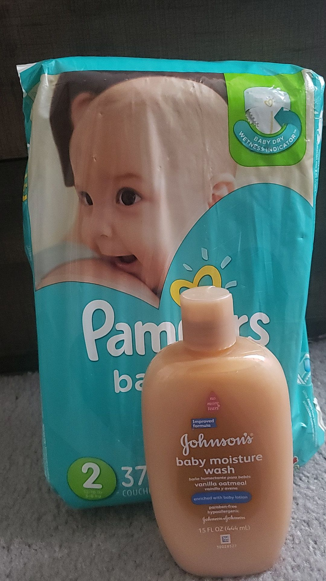 Pampers size 2 & Body Wash