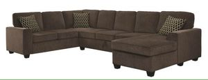 Large brown sectional sofa couch!!Brand new free delivery for Sale in Chicago, IL