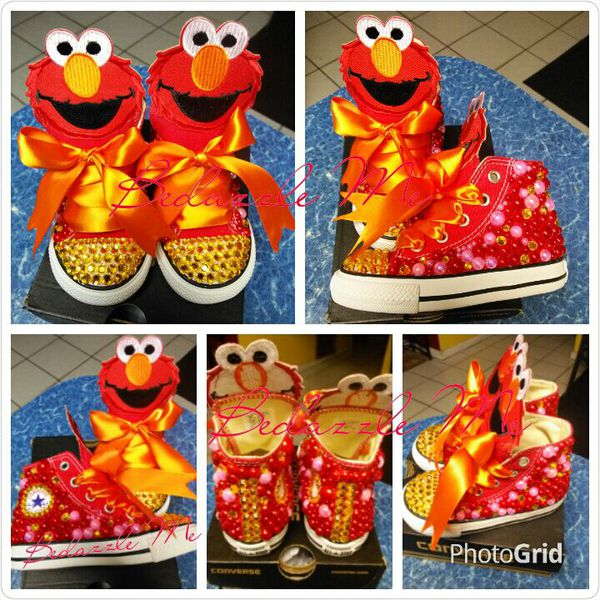 53dd5afb4536 Elmo Bedazzled Converse Sneakers for Sale in Pompano Beach
