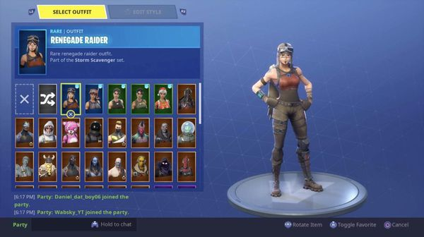 Fortnite Account Renegade Raider With Sycthe And Much More 165 Negotiable For Sale In Los Angeles Ca Offerup